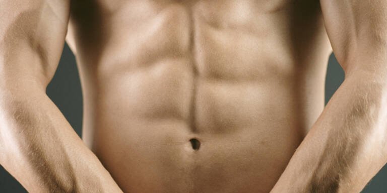 Bauchmuskeln, Muskeln, Bauch, Waschbrettbauch, Mann