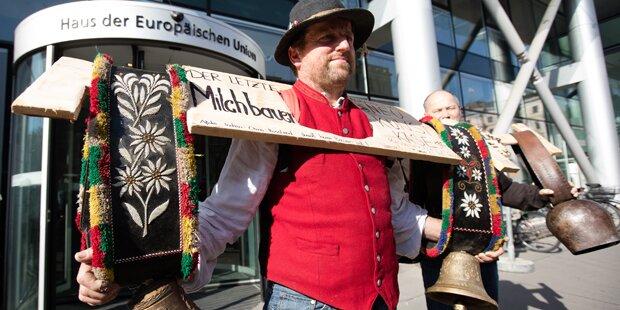 Lautstarke Milchbauern-Demo in Wien