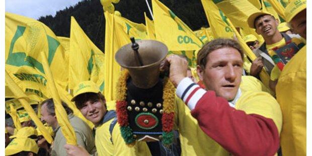 Bauern blockieren Brenner