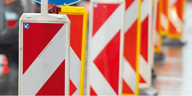 Neue Baustelle in der Stadt Salzburg