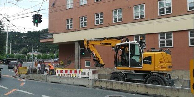 Kanalarbeiten am Rudolfsplatz
