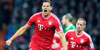 Bayern demütigen Werder Bremen mit 7:0