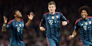 Arsenal verliert gegen Bayern 0:2