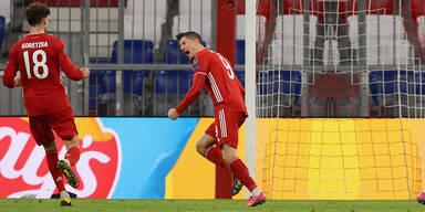 Bayern fixiert mühelos das Viertelfinale