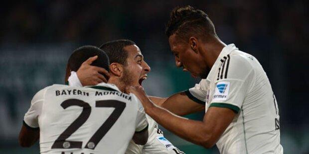 Bayern gewannen locker 4:0 in Hannover