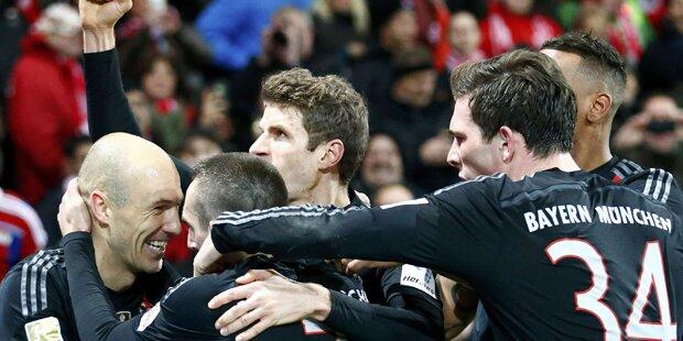 Bayern feiern Last-Minute-Sieg