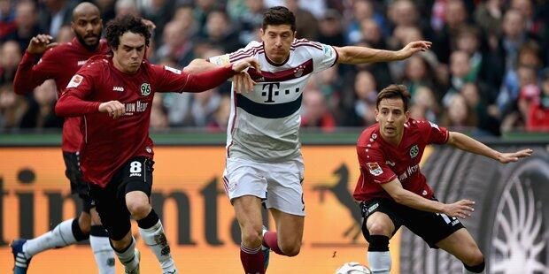 3:1 - Bayern drehen Partie in Hannover