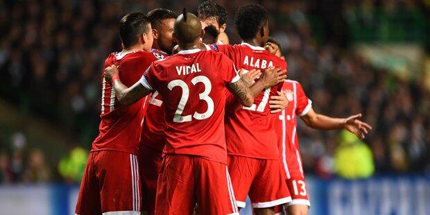 2:1 in Glasgow: Bayern steht im Achtelfinale