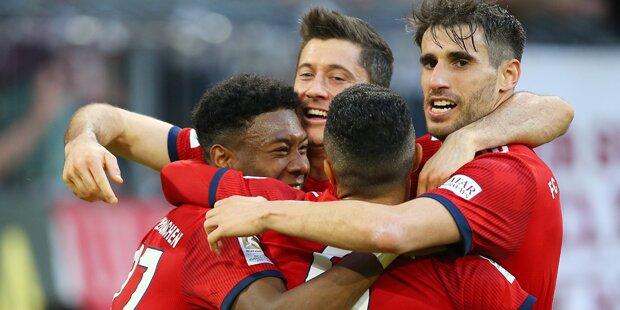 5:0 - Bayern zerlegen BVB in Titelfight