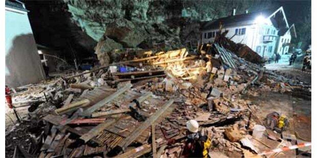 Gewaltiger Felssturz zerstört Haus