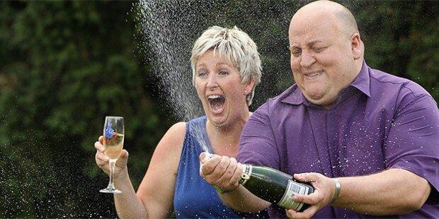 Sie feiern den 190-Millionen-Gewinn