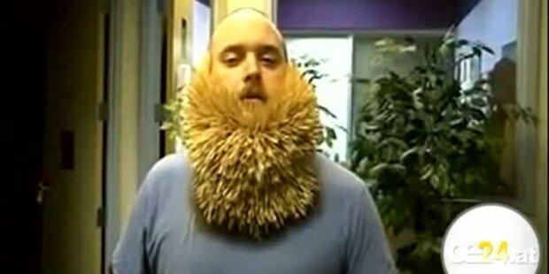 Skurriler Rekord: 2747 Zahnstocher im Bart