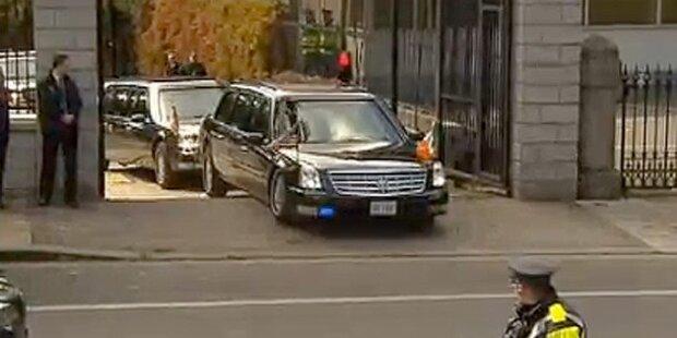 Obamas Limousine blieb in Irland stecken
