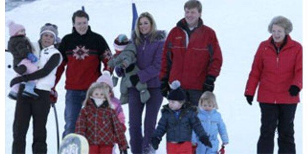Holländische Königsfamilie fährt Ski in Lech
