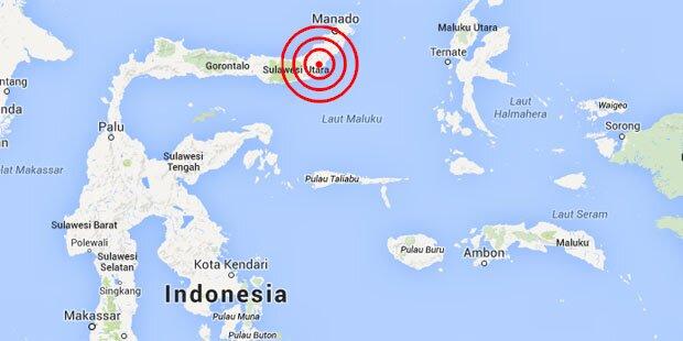 Schweres Beben erschüttert Indonesien