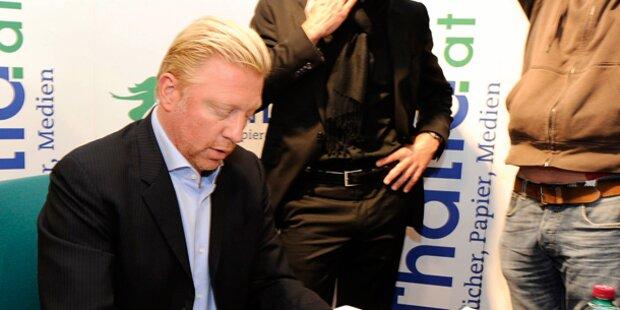 Boris Becker auf Tour in Wien