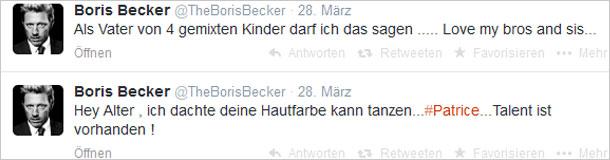 Boris Becker, Patrice Bouedibela