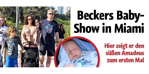 Boris Beckers Baby-Show in Miami