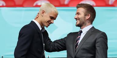 Romeo Beckham mit Vater David Beckham