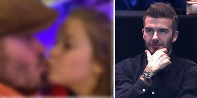 Darf man(n) das? Beckham erntet Shitstorm für Bussi-Bild