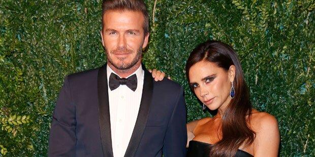 Beckhams: Red Carpet nach Crash