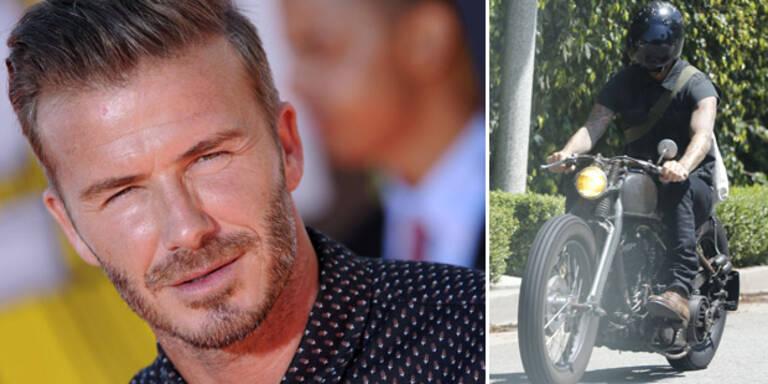 Bike-Crash von David Beckham