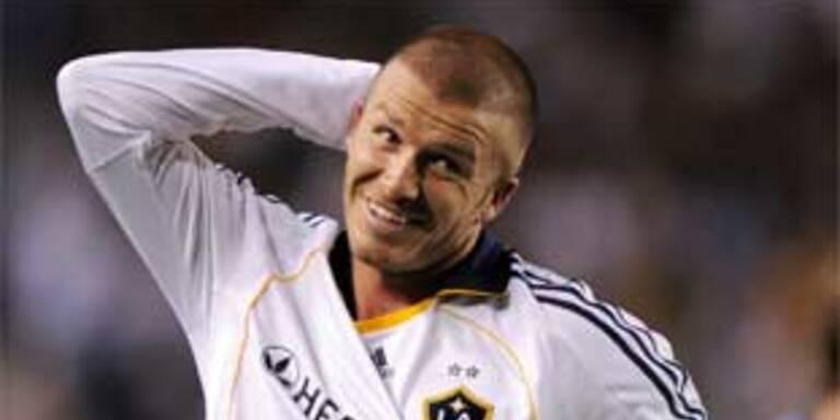 David Beckham traf beim 2:0-Sieg