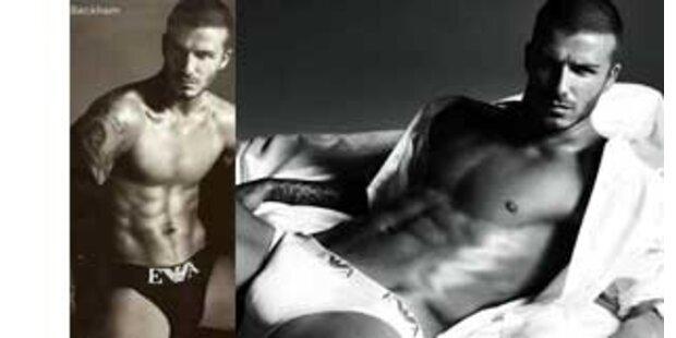 Was fehlt denn hier in David Beckhams Hose?