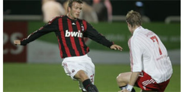 Milan siegt bei Beckham-Debüt
