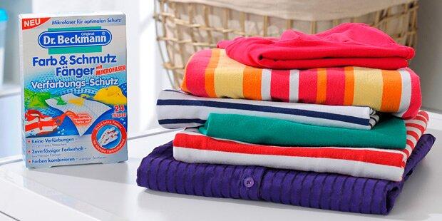 Farbenfrohe Wäsche auch nach dem Urlaub