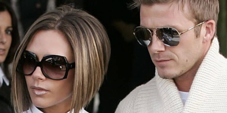 Und ein Prominenten-Auflauf der Sonderklasse. Hier David Beckham und seine Frau Victoria(c) reuters