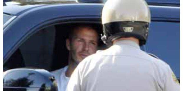 David Beckham kassiert Strafzettel