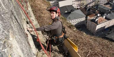 Mönchsberg-Mauer gesichert