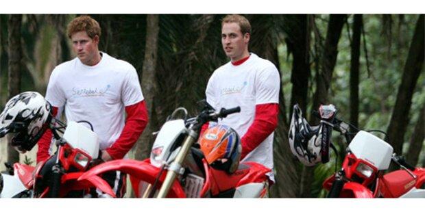 Britische Prinzen starten Rallye durch Südafrika