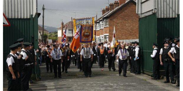 Ausschreitungen bei Oranier-Marsch