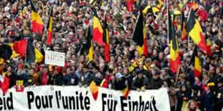 Belgier demonstrieren für Einheit des Landes
