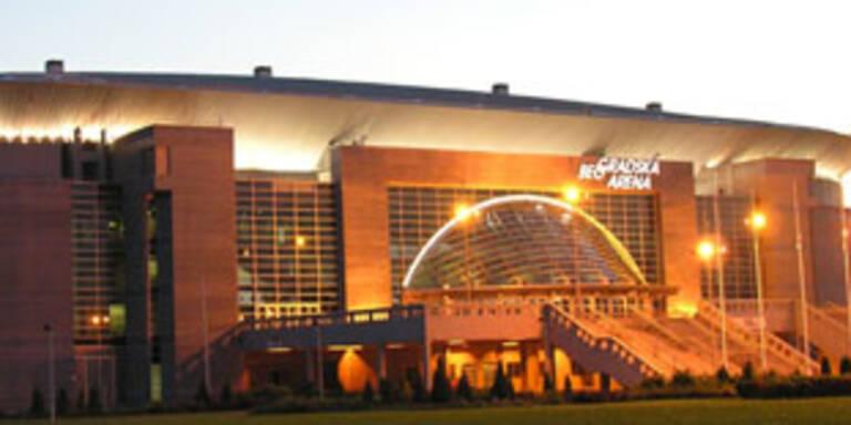Die Song-Contest-Arena in Belgrad