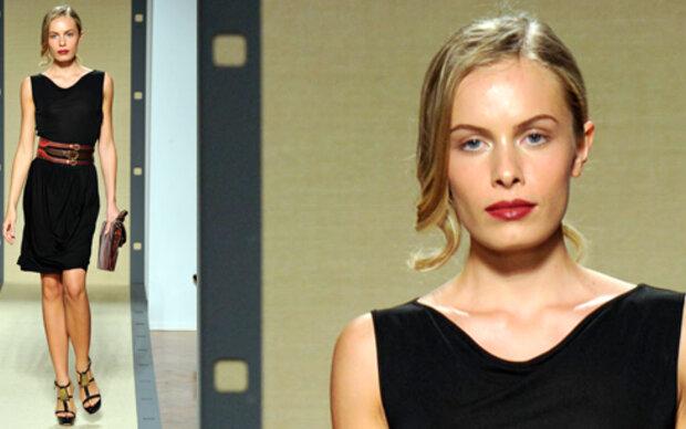 Jana lief bei Fashion Week in Mailand
