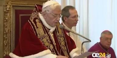 Papst Benedikt XVI: Seine Rücktrittsrede