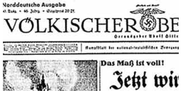 Wirbel um Neuauflage von Nazi-Zeitungen