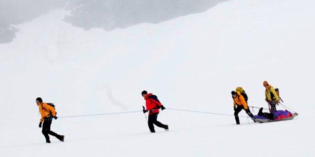 Skifahrer schlitterte 240m in die Tiefe