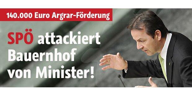 SPÖ attackiert Bauernhof von Minister