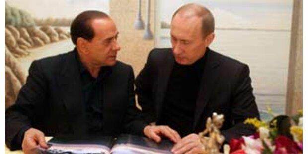 Putin zu Besuch bei Berlusconi