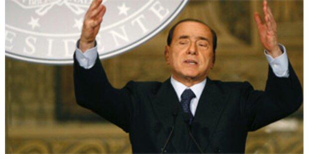 Tausende demonstrierten in Rom gegen Regierung Berlusconi
