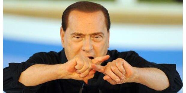 Silvios Partybesuch erzürnt Opposition