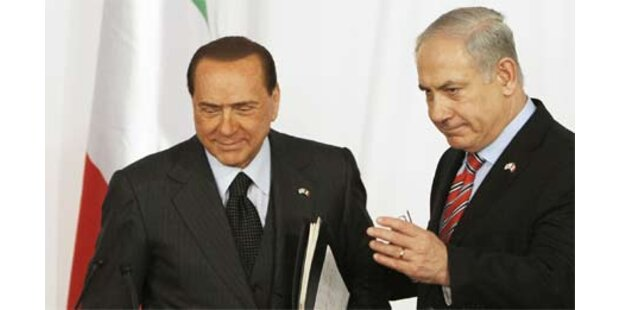 Berlusconi lobt Israel