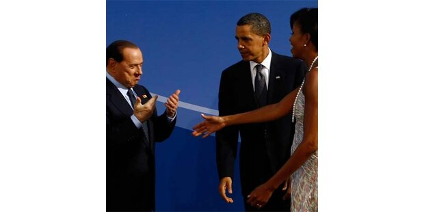 Michelle Obama ließ Berlusconi abblitzen