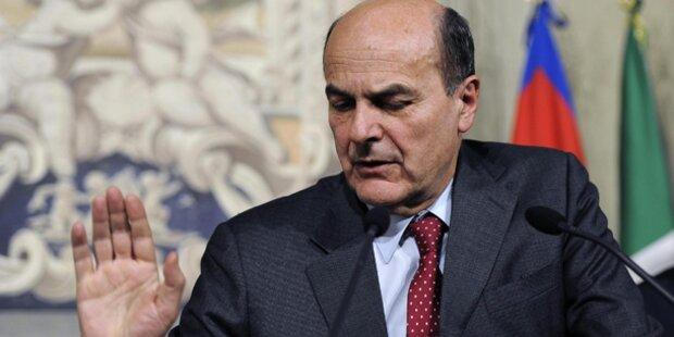 Bersani kündigt Rücktritt an