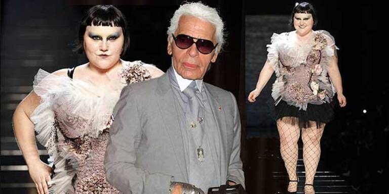 Beth Ditto will Lagerfeld's alte Kleider