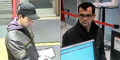 Polizei jagt zwei Bank-Betrüger